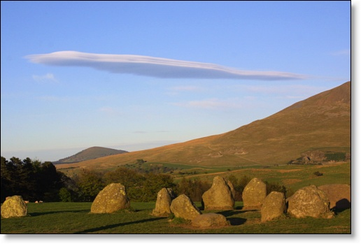 A photograph of Castlerigg Stone Circle