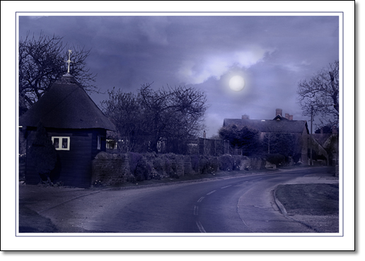 A photograph of Eerie moonlight
